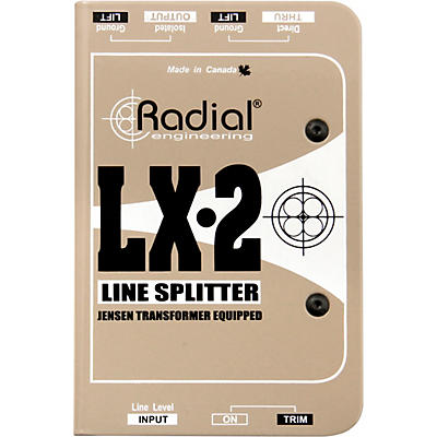 Radial Engineering LX-2 Line-Level Splitter and Attenuator