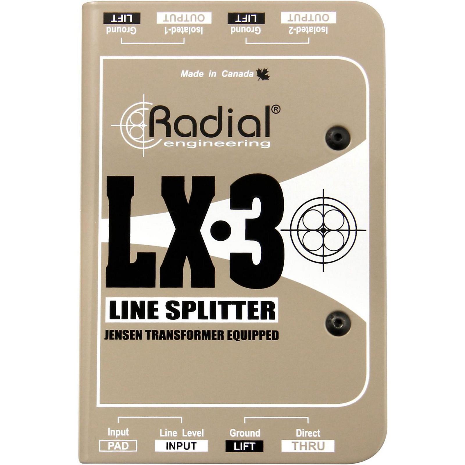 Radial Engineering LX-3 Passive 3 Channel Line Splitter