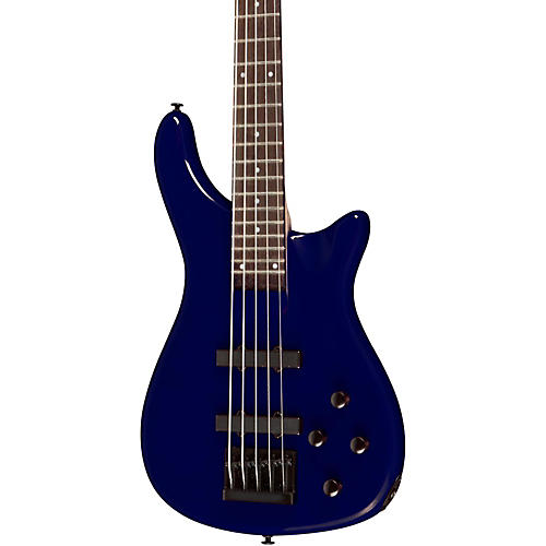 Rogue LX205B 5-String Series III Electric Bass Guitar Metallic Blue