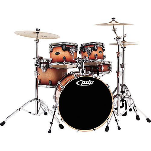 PDP by DW LXE 5-Piece Birdseye Exotic Tobacco Burst Shell Pack