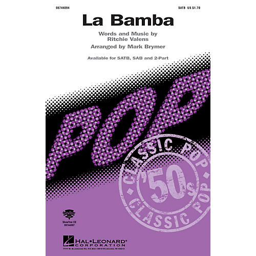 Hal Leonard La Bamba 2-Part Arranged by Mark Brymer
