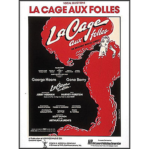 Hal Leonard La Cage Aux Folles Vocal Selections arranged for piano, vocal, and guitar (P/V/G)