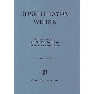G. Henle Verlag La Fedeltà Premiata - Dramma Pastorale Giocoso, 2nd part Henle Edition Series Hardcover