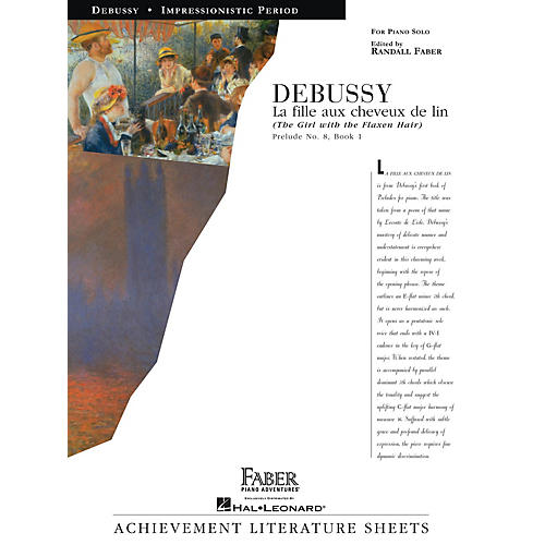 Faber Piano Adventures La fille aux cheveux de lin (The Girl with the Flaxen Hair) Faber Piano by Debussy (Level Early Advanced)