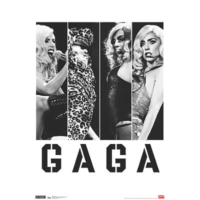 Trends International Lady Gaga - Photo Bars Poster