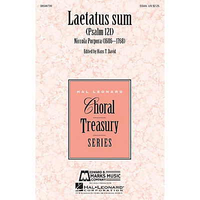 Edward B. Marks Music Company Laetatus Sum (Psalm 121) SSAA composed by Nicola Porpora