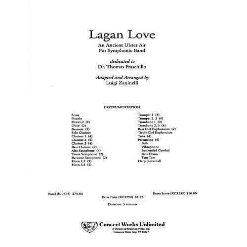 Hal Leonard Lagan Love Full Score Full Score