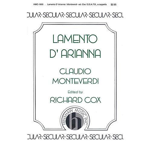 Hinshaw Music Lamento D'arianna SATB composed by Claudio Monteverdi