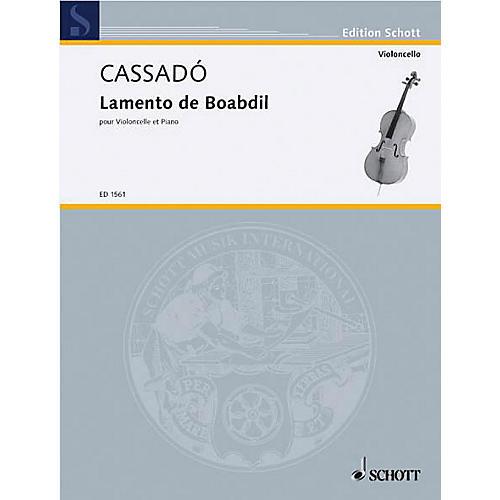 Schott Lamento de Baobdil (Cello and Piano) Schott Series