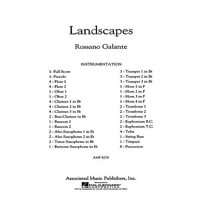 G. Schirmer Landscapes Concert Band Level 5 Composed by Rossano Galante