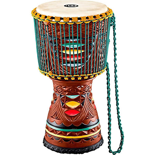 Meinl Large Artisan Edition Tongo Carved Mahogany Mali-Weave Djembe