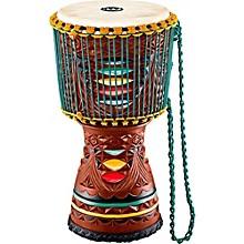 Open BoxMeinl Large Artisan Edition Tongo Carved Mahogany Mali-Weave Djembe