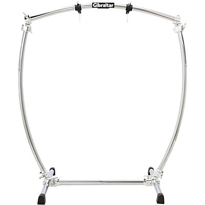 Gibraltar Large Curved Chrome Gong Stand