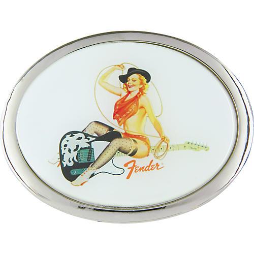 Fender Lasso Pinup Girl Belt Buckle