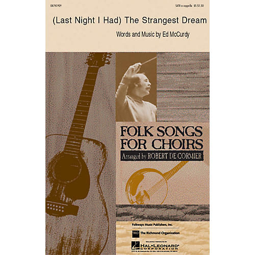 Hal Leonard Last Night I Had the Strangest Dream SATB a cappella arranged by Robert DeCormier