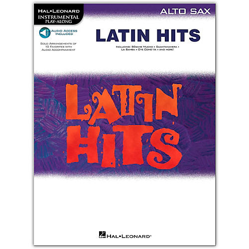 Hal Leonard Latin Hits for Alto Saxophone (Book/Online Audio)