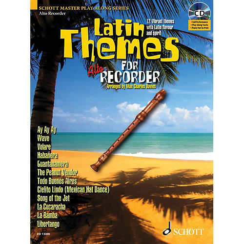 Schott Latin Themes for Alto Recorder Instrumental Play-Along Series Softcover with CD