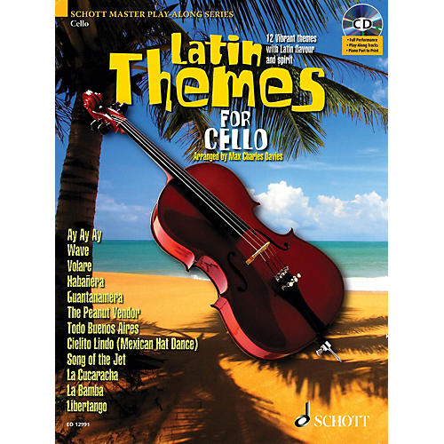 Schott Latin Themes for Cello (for Cello) Instrumental Play-Along Series Softcover with CD