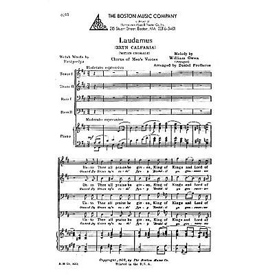 Boston Music Laudamus (Bryn Calfaira) TTBB Composed by William Owen Arranged by Daniel Protheroe