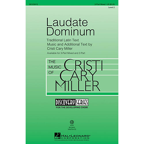 Hal Leonard Laudate Dominum (Discovery Level 2) 3-Part Mixed composed by Cristi Cary Miller