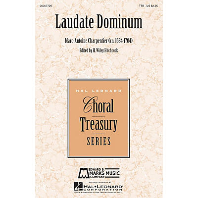 Edward B. Marks Music Company Laudate Dominum TTB composed by Marc-Antoine Charpentier edited by H. Wiley Hitchcock
