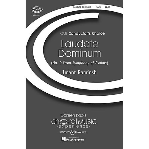 Boosey and Hawkes Laudate Dominum (from Symphony of Psalms) CME Conductor's Choice SATB composed by Imant Raminsh