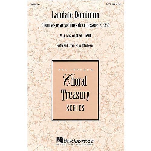 Hal Leonard Laudate Dominum (from Vesperae solennes de confessore, K. 339) SATB composed by Wolfgang Amadeus Mozart