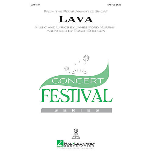 Hal Leonard Lava SAB arranged by Roger Emerson
