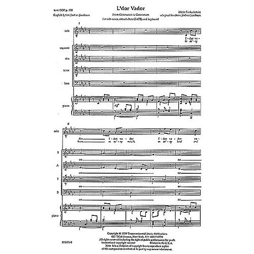 Transcontinental Music L'dor Vador (From Generation to Generation) SATB arranged by Joshua Jacobson