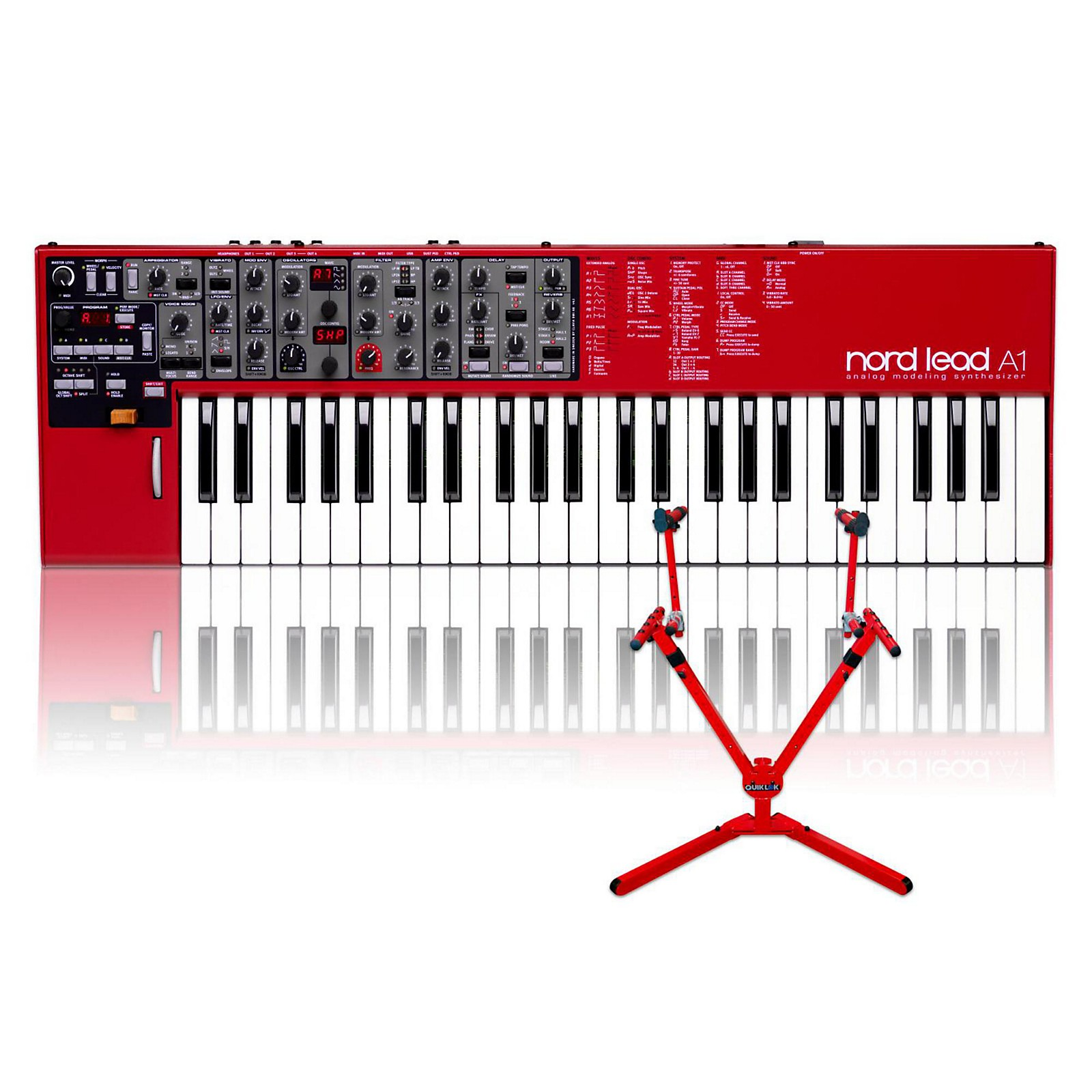 Nord Lead A1 with Matching 2-Tier Keyboard Stand