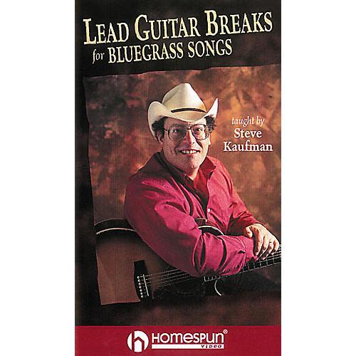 Homespun Lead Guitar Breaks for Bluegrass Guitar (VHS)
