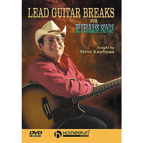 Homespun Lead Guitar Breaks for Bluegrass Songs (DVD)