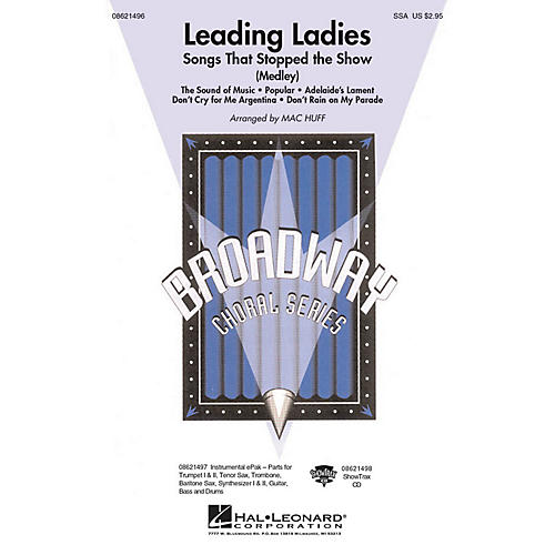 Hal Leonard Leading Ladies: Songs That Stopped the Show ShowTrax CD Arranged by Mac Huff