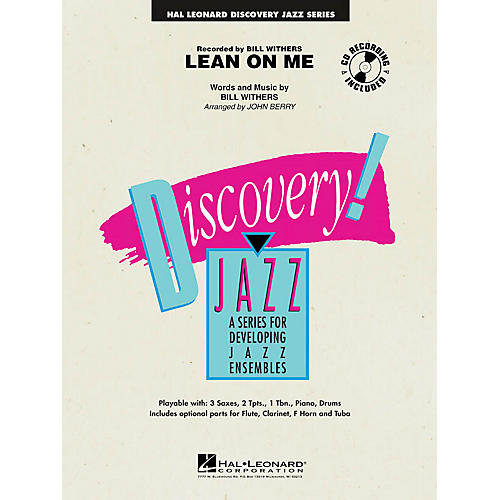 Hal Leonard Lean on Me Jazz Band Level 1-2 by Bill Withers Arranged by John Berry