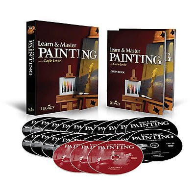 Legacy Learning Learn & Master Painting - Homeschool Edition (Book/3-CD/20-DVD Pack) DVD Series Written by Gayle Levée