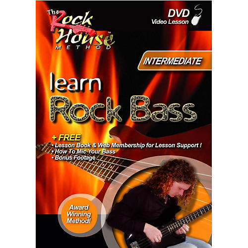 Rock House Learn Rock Bass-Intermediate (DVD)