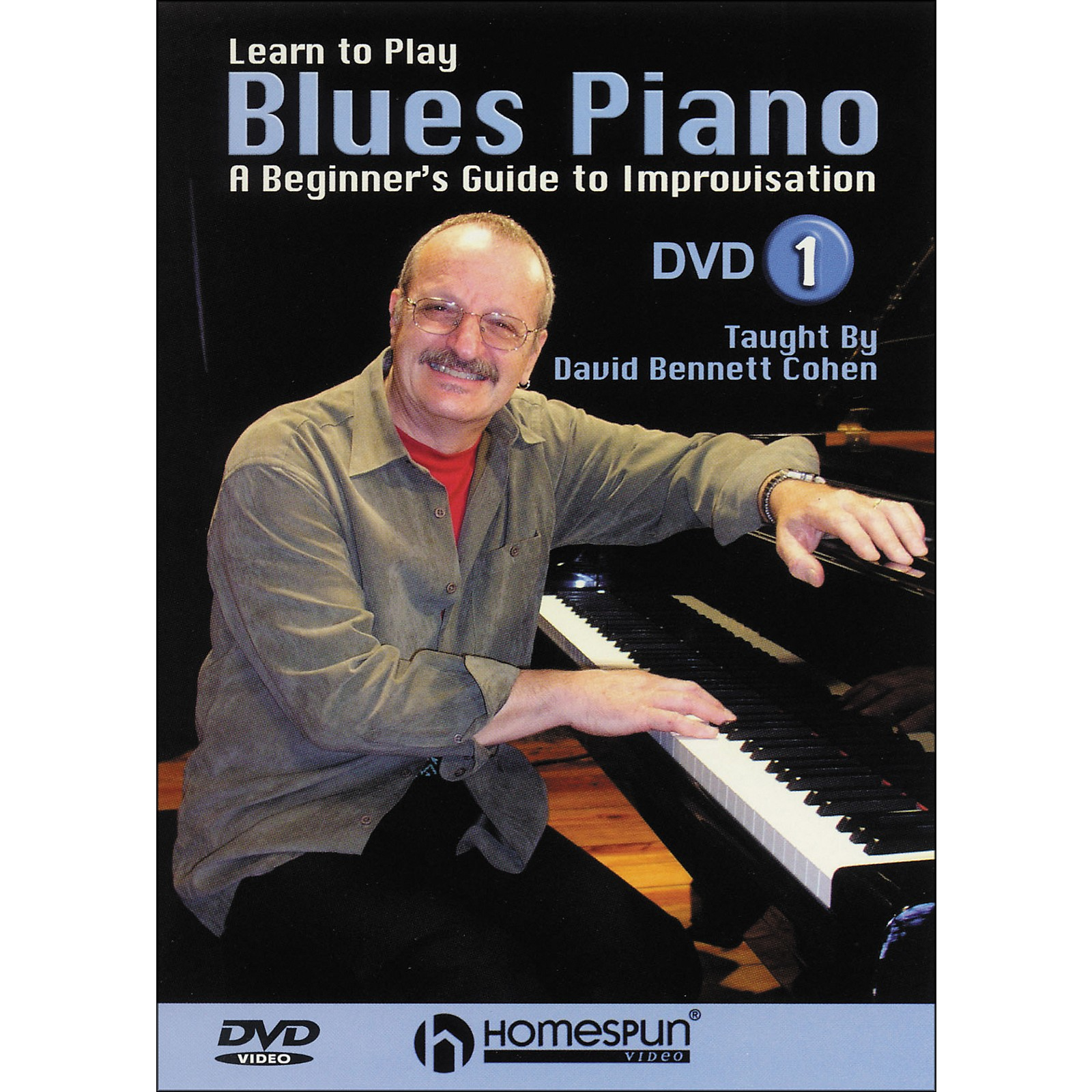 Homespun Learn To Play Blues Piano Lesson One DVD