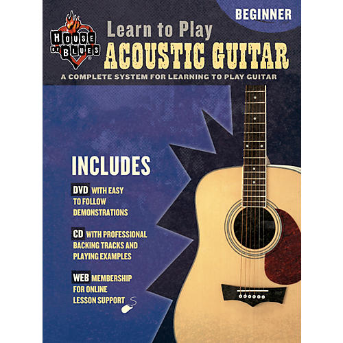 House of Blues Learn to Play Acoustic Guitar Book/CD/DVD