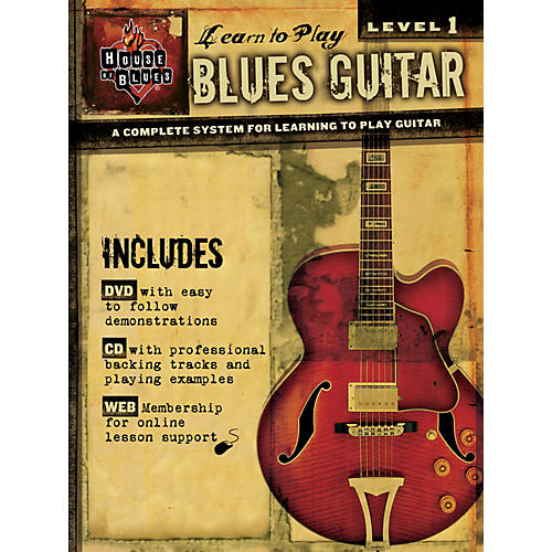 House of Blues Learn to Play Blues Guitar  Level 1 Book/CD/DVD