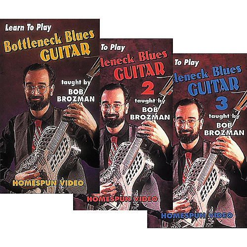 Homespun Learn to Play Bottleneck Blues Guitar 3-Video Set (VHS)