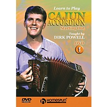 Homespun Learn to Play Cajun Accordion DVD/Instructional/Folk Instrmt Series DVD Written by Dirk Powell