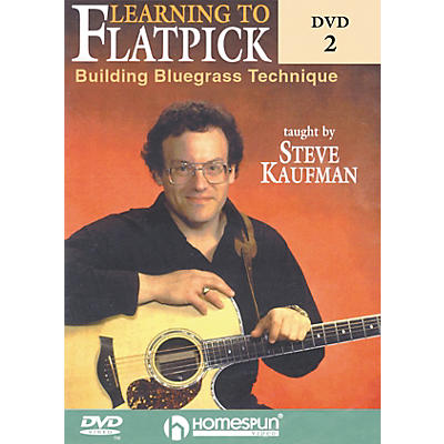 Homespun Learning to Flatpick DVD 2 - Building Bluegrass Technique (DVD)
