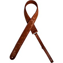 Leather Guitar Strap with Capo-Keeper Brown 2 in.