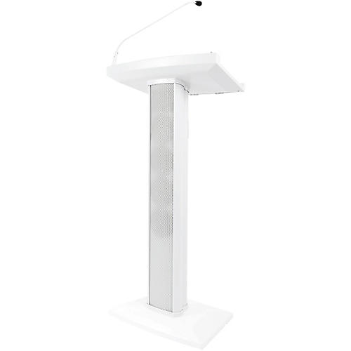 Denon Professional Lectern Active White Lectern with Active Speaker Array