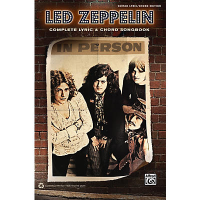 Alfred Led Zeppelin - Complete Lyric & Chord Songbook