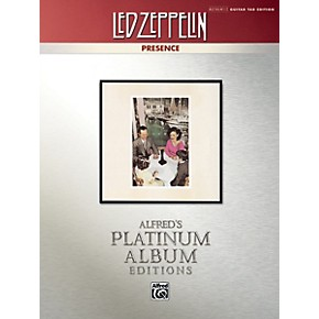 alfred led zeppelin presence platinum guitar tab book musician 39 s friend. Black Bedroom Furniture Sets. Home Design Ideas