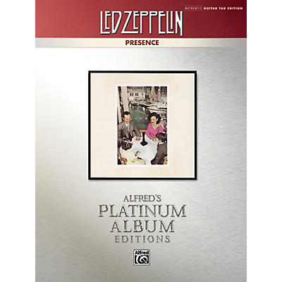 Alfred Led Zeppelin - Presence Platinum Guitar TAB Book