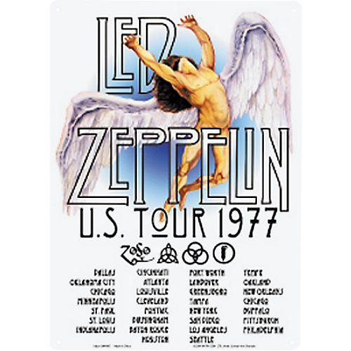 Gear One Led Zeppelin 1977 Tour Sign