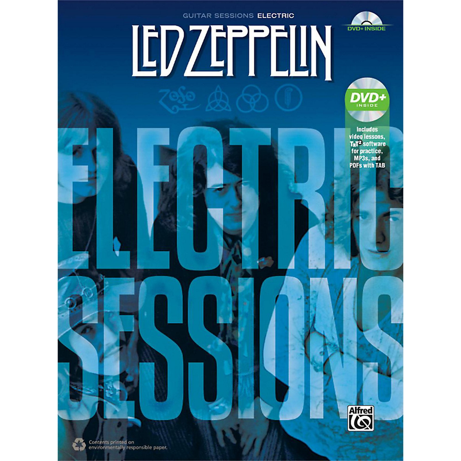 Alfred Led Zeppelin: Electric Sessions Guitar TAB Edition Book & DVD