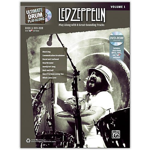 Alfred Led Zeppelin Ultimate Play Along Drums Volume 1 with 2 CD's